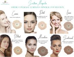 Brown Skin Tone Chart Foundation Color Charts Southern Magnolia Mineral Cosmetics
