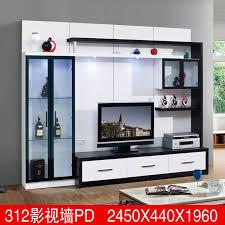 Living room furniture lcd tv wall unit wood led tv wall unit design