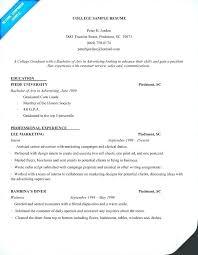 Freshman College Student Resume Adorable Resume Template For College Student Freshman Example Students