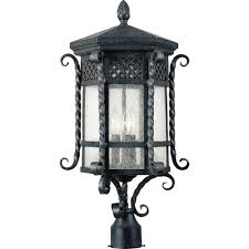 maxim lighting scottsdale 3 light country forge outdoor pole post mount 30121cdcf the home depot