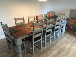 10 12 seater large farmhouse dining table 10 chairs oak pine throughout 12 seat dining room table remodel