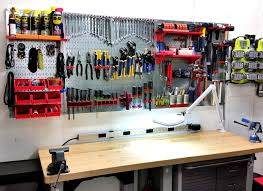 garage pegboard tool organization with