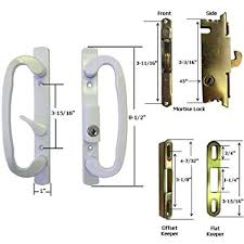 stb sliding gl patio door handle kit with mortise lock and keeper white ke