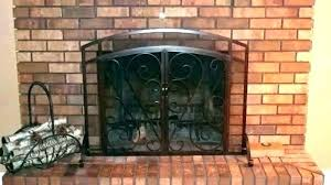 modern glass fireplace screen beveled restoration hardware victoria
