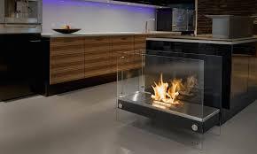bio ethanol fireplaces with geometric designs