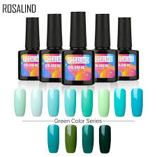 Rosalind Solid Color Green 10ml Nail Polish Soak Off Gel Lacquer Semi Vernis Permanent Nail Gel Polish Uv Led Gel Varnish