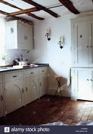 white country cottage kitchen. Wonderful White Old Brick Flooring In White Country Cottage Kitchen For White Country Cottage Kitchen