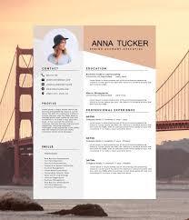 Modern Resume Etsy Resume Infographic Modern Resume Template Cv Template By