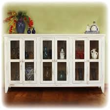 attractive glass door console cabinet antique console with 6 glass panel doors accessories furniture
