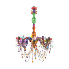 multi colored chandelier multi colored crystal