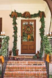 D Pinecone Garland Front Door
