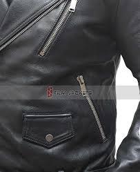 black asymmtrical rider jacket black aviator leather jacket