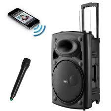 speakers with microphone. frisby portable rechargeable karaoke pa speaker w/ wireless mic \u0026 fm usb/sd new | ebay speakers with microphone h