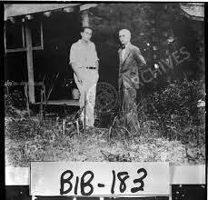Bibb County, ca. 1934. Marshall Daugherty and Harry Stillwell Edwards at  Kingfisher Cabin on Edwards' plantation, Holly Bluff. - Vanishing Georgia -  Georgia's Virtual Vault