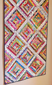 Best 25+ String quilts ideas on Pinterest | Scrap quilt patterns ... & Scrappy String Quilt -looks 3D - try the stitch and tear technique Adamdwight.com