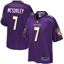 Ravens Baltimore Jersey Player Trace Pro Mcsorley Nfl Purple Youth Line