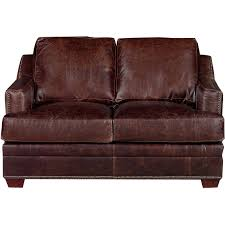 classic contemporary brown leather loveseat antique