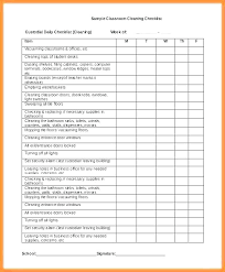 Cleaning Business Checklist Template House For Maid