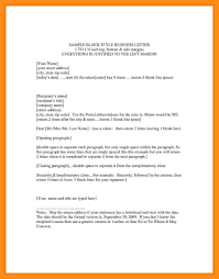 9 Sample Block Style Letter Agenda Example