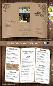 Trifold Menu Template Free Shooters Journal