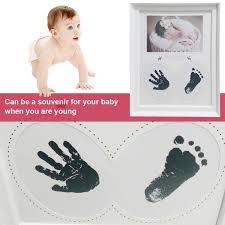 baby hand foot print photo frame handprint footprint photo frame kit for newborn boys s room decoration souvenir gift baby boy keepsakes keepsake gifts