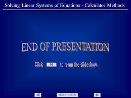 9 table of contents solving linear systems of equations calculator methods