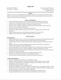 Endearing Office Administration Resume For Career Summary For