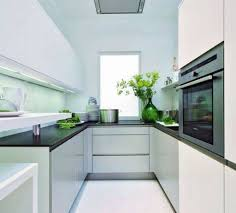 kitchensmall white modern kitchen. Kitchen: Excellent Modern Galley Kitchen Decorating Design Ideas Using Large Glass From Kitchensmall White E