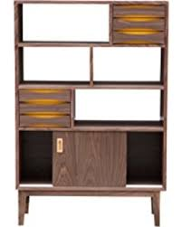 mid century modern bookshelf. Kardiel Vodder 4-Tier Upright Cabinet With Mid-century Modern Bookcase, Walnut Wood Mid Century Bookshelf