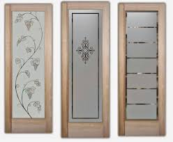 etched glass doors for interior beauty