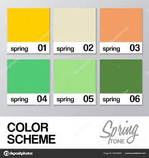 Die Spring Color Chart Color Chart For Spring Vector Illustration Stock Vector