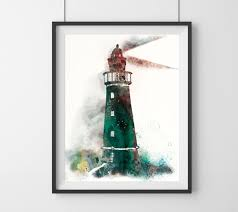Lighthouse Bedroom Decor Anchor Painting Etsy