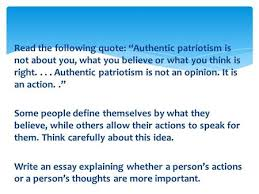 "five paragraph essay pyramid ppt video online   the following quote ""authentic patriotism is not about you what you believe"