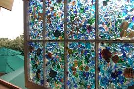 sea glass window and shell art by monarch post classes ct sea glass