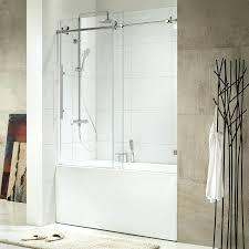 frameless sliding tub doors trident x single door oil rubbed bronze