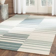 awesome safavieh kilim blue ivory striped area rug reviews wayfair intended for striped area rug modern