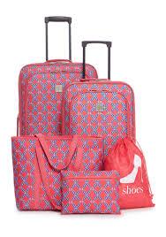 ... Coach Madison Logo Medium Coffee Luggage Bags DKE 5-Piece Coral Lattice  Mosaic Luggage Set ...