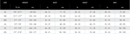 Sizing Chart Lavacore International