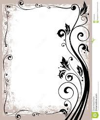 Ornate Floral Frame Stock Vector Illustration Of Floral 33034923