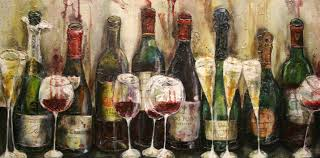 Celebration Wine Painting for Wine Lovers