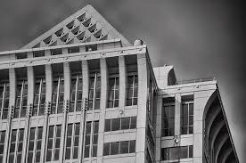 Melon Bank Top Of The Mellon Bank Center In Black And White Photograph By Bill