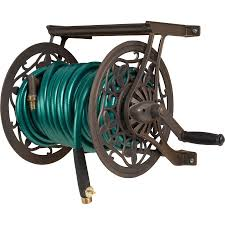 find many great new used options and get the best deals for wall mounted garden hose reel by suncast 100 feet capacity side winder outdoor at the