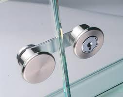 glass door cam lock cam with plate cylinder for double door for glue fixing