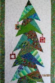 Santa & Christmas Trees Wall Hanging Pattern by BobKat Quilts ... & Kaffe Fassett Christmas tree wall hanging by Shelley at Waterwheel House Quilt  Shop: paper pieced