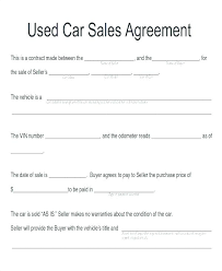Vehicle Sales Agreement Unique Car Installment Sale Agreement Template Tridentknights