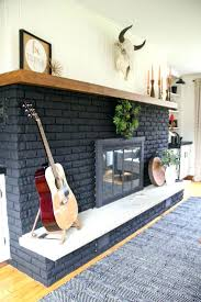 painting brick fireplace our black painted bright green door white with gray grout paint colors for brick fireplace