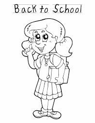 Back to school girl - Free Printable Coloring Pages