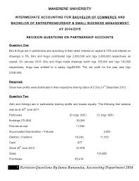 Partnership Revision Questions Ay 2014 2015