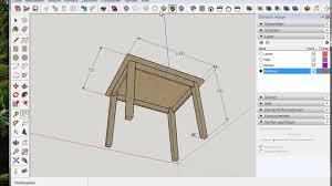 Sketchup Wir Zeichnen Einen Tisch Youtube