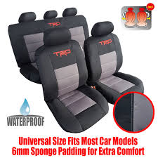 Cool Awesome New Complete Set 9pcs Waterproof Car Seat Cover TRD ...